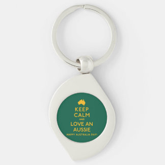 Keep Calm and Love an Aussie! Key Ring