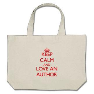 Keep Calm and Love an Author Canvas Bags