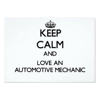 Keep Calm and Love an Automotive Mechanic Invitations