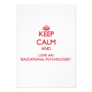 Keep Calm and Love an Educational Psychologist Custom Invitations
