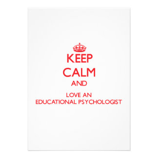 Keep Calm and Love an Educational Psychologist Custom Invitations