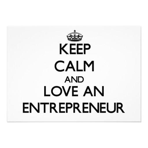 Keep Calm and Love an Entrepreneur Custom Invitations