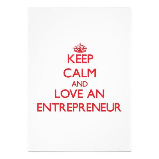 Keep Calm and Love an Entrepreneur Card