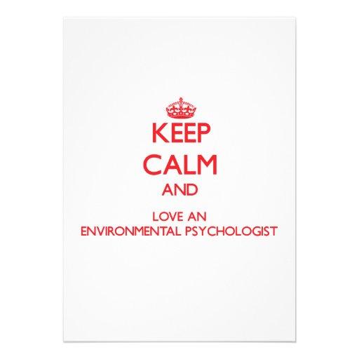 Keep Calm and Love an Environmental Psychologist Custom Invites