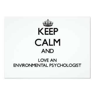 Keep Calm and Love an Environmental Psychologist Personalized Invitations