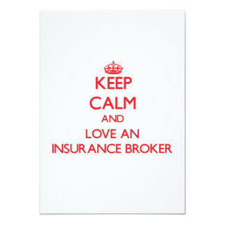 Keep Calm and Love an Insurance Broker Personalized Announcement