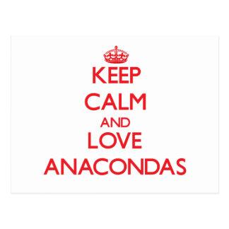 Keep calm and love Anacondas Postcard