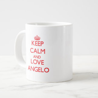 Keep Calm and Love Angelo Extra Large Mugs