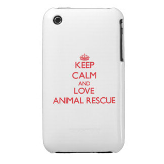 Keep calm and love Animal Rescue iPhone 3 Covers