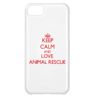 Keep calm and love Animal Rescue iPhone 5C Covers