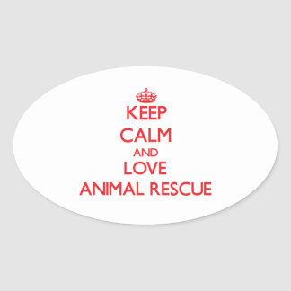 Keep calm and love Animal Rescue Stickers