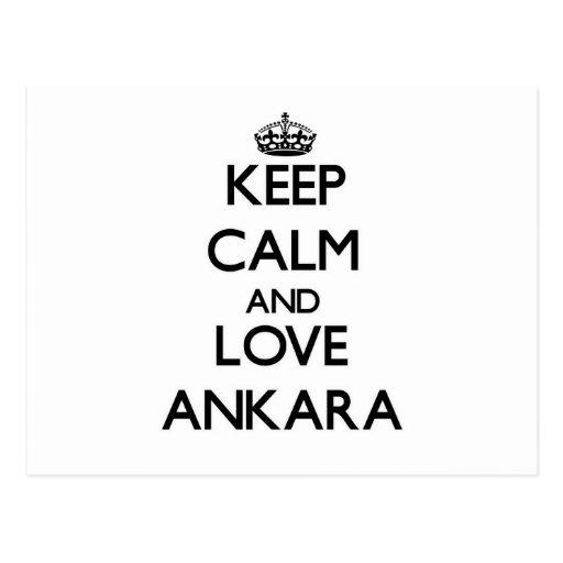 Keep Calm and love Ankara Postcard