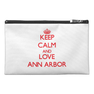 Keep Calm and Love Ann Arbor Travel Accessory Bag