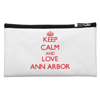 Keep Calm and Love Ann Arbor Makeup Bags