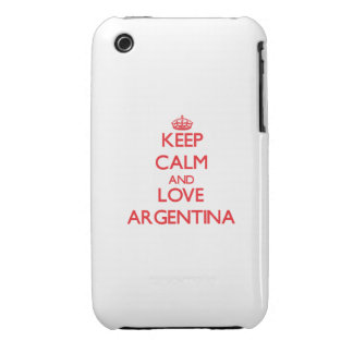 Keep Calm and Love Argentina iPhone 3 Covers