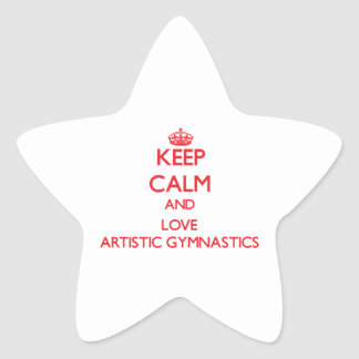 Keep calm and love Artistic Gymnastics Stickers