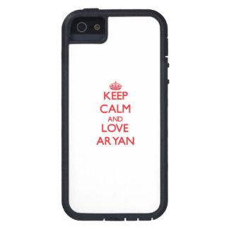 Keep Calm and Love Aryan iPhone 5 Case