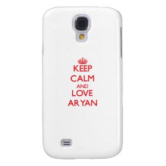 Keep Calm and Love Aryan Samsung Galaxy S4 Cover