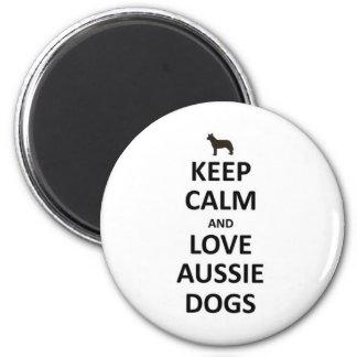 Keep calm and love Aussie Dogs.jpg Refrigerator Magnet
