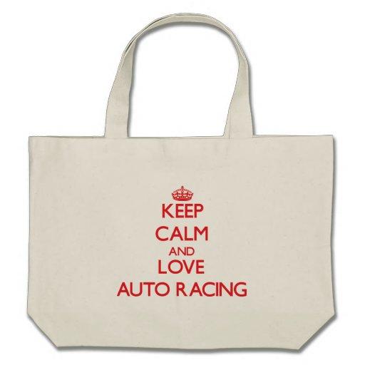 Keep calm and love Auto Racing Bag