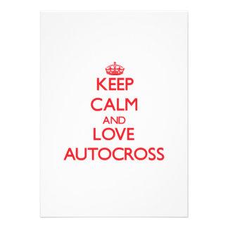 Keep calm and love Autocross Custom Announcement