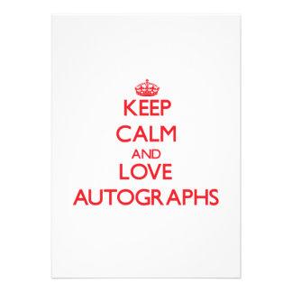 Keep calm and love Autographs Invite