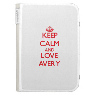 Keep calm and love Avery Kindle 3 Case