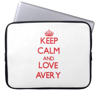 Keep calm and love Avery Laptop Sleeve