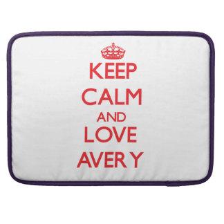 Keep calm and love Avery Sleeve For MacBooks
