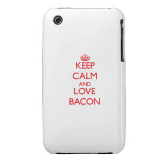 Keep calm and love Bacon iPhone 3 Case-Mate Cases
