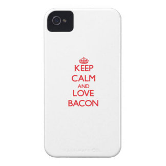 Keep calm and love Bacon iPhone 4 Case