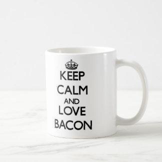 Keep calm and love Bacon Coffee Mugs