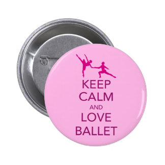 Keep Calm and Love Ballet Gift Print 6 Cm Round Badge