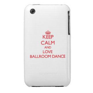 Keep calm and love Ballroom Dance iPhone 3 Cases