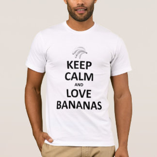 Keep calm and love bananas T-Shirt
