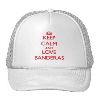 Keep calm and love Banderas Mesh Hats