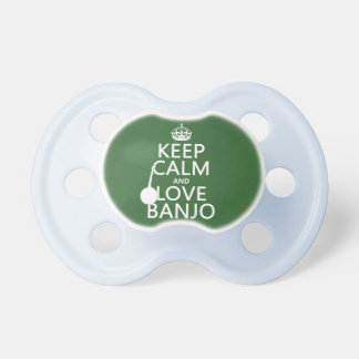 Keep Calm and Love Banjo (any background color) Dummy