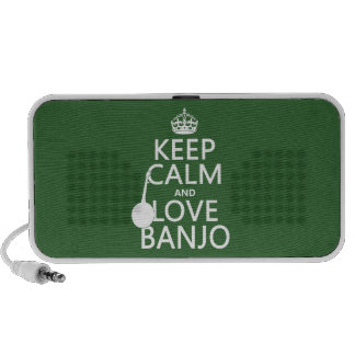 Keep Calm and Love Banjo (any background color) iPod Speakers