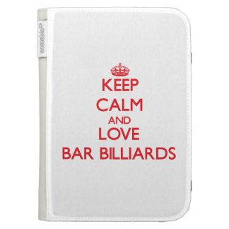 Keep calm and love Bar Billiards Kindle Keyboard Case