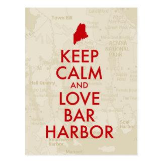 Keep Calm and Love Bar Harbor Postcard