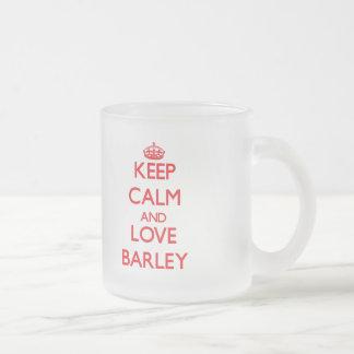 Keep calm and love Barley Coffee Mugs