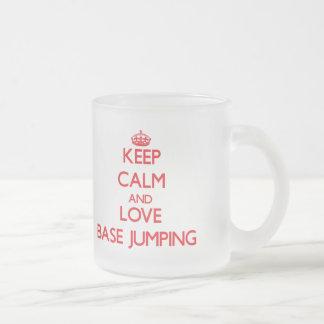 Keep calm and love Base Jumping Coffee Mugs