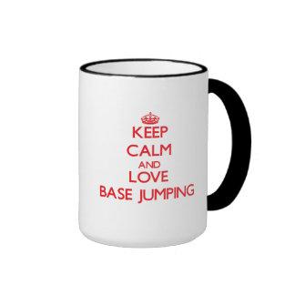 Keep calm and love Base Jumping Ringer Mug