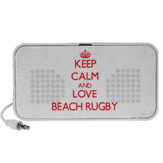 Keep calm and love Beach Rugby Notebook Speaker