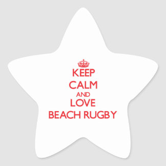 Keep calm and love Beach Rugby Star Sticker