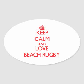 Keep calm and love Beach Rugby Sticker