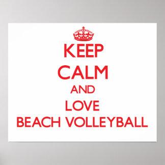 Keep calm and love Beach Volleyball Print