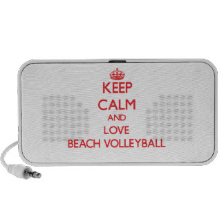 Keep calm and love Beach Volleyball iPod Speaker