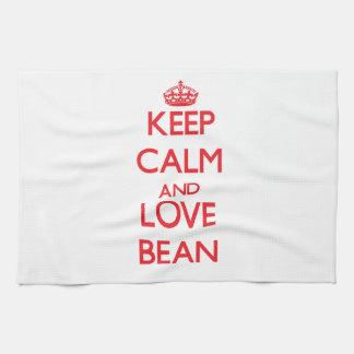 Keep calm and love Bean Tea Towel