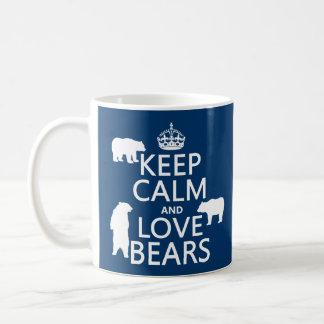 Keep Calm and Love Bears (in all colours) Basic White Mug